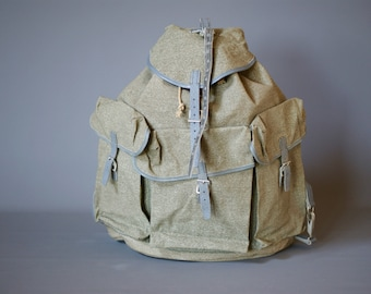 NEW, Never Used 1950s Swiss Army Backpack, Swiss Army Rucksack, Swiss Military Backpack, Swiss Army Rucksack, Unused Swiss Army Backpack