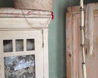 antique fabric box, very large