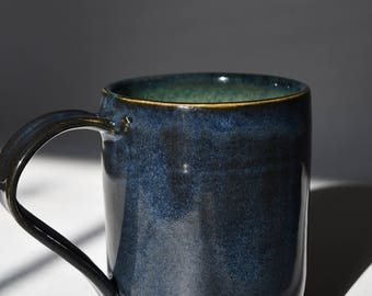 Dark Blue and Green Mug