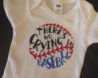 No Crying in Baseball Onesie
