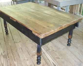 Reclaimed Oak Barnwood Door Coffee Table