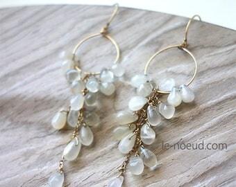 Moon Stone K14GF Earrings