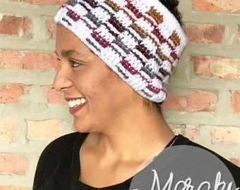 Rainbow Checkered Messy-Bun Hat