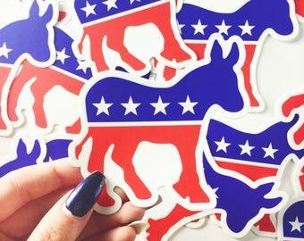 Democrat Donkey Vinyl Sticker