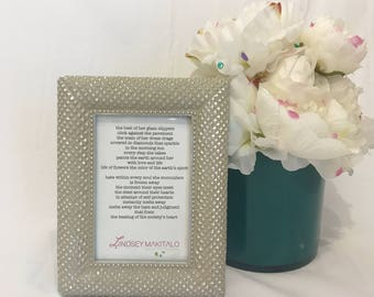 Inspiring Original Poem in Pretty Frame