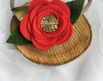 Red Headband Baby Red Rose Headband for Baby Girl