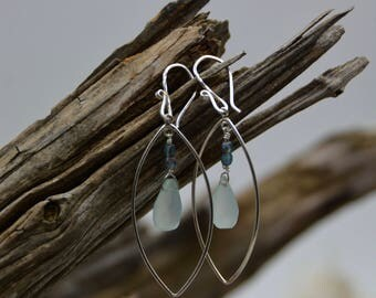 Calcaphony and Sterling Silver drop earrings
