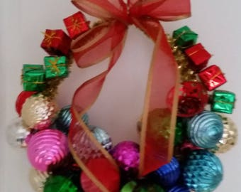 Multi Color Ornament Wreath