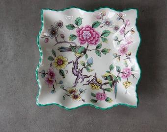 James Kent Old Foley Birds and Flowers Trinket Dish