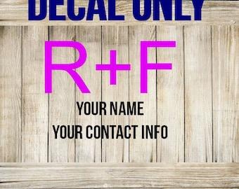 RODAN + FIELDS DECAL - Rodan + Fields marketing - Rodan + Fields vinyl - Rodan + Fields Customer Gift - R+F