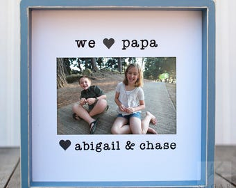Fathers Day Gift Gift for Grandpa Gift for Father Gift for Husband  Personalized Gift  Grandpa from Grandkids  Personalized Frame For Dad