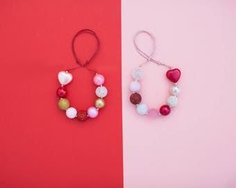 Valentines Necklace- Adjustable Necklace