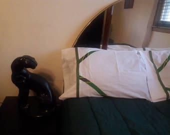 Green African Print Pillow Case.