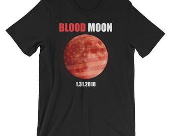 Blood Moon Shirt Lunar Eclipse T-Shirt UNISEX Eclipse Hunter Astronomy Gift