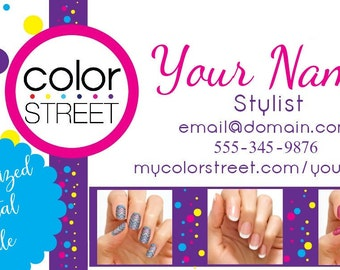 Personalized Color Street Business Card with Application Instructions
