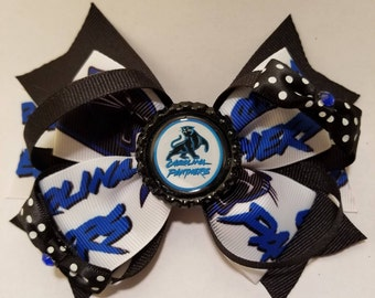 Carolina Panthers Hairbow