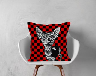 CHIHUAHUA Dog,Decorative Pillow, Dog Pillowcase, Personalized Pet, Give Gift of Love this Holiday Season or Just Brag About Your Pet.
