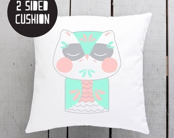 owl lover, owl gift, scandi owl, owl cushion, owl pillow