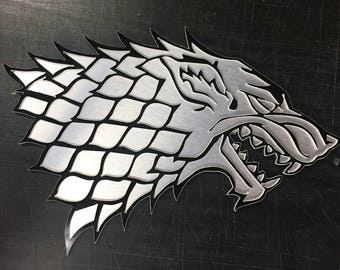 Game of Thrones House Stark Direwolf Sigil Metal Sign