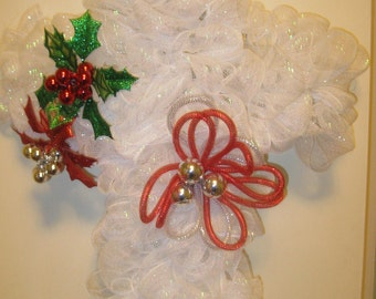 Christmas wreath cross