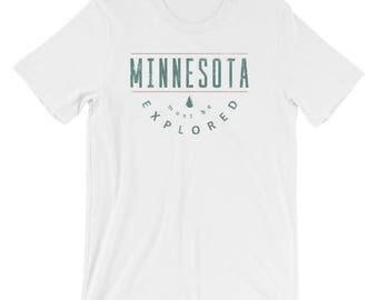 Minnesota Must Be Explored Funny MN State Gift Short-Sleeve Men's/Unisex T-Shirt