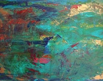 Original painting // Abstract painting // Archangel Raphael // Spiritual painting // Affirmation art // Archangel Michael // Meditation art