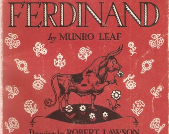 VINTAGE BOOK - The Story of Ferdinand, By Munro Leaf - Classic Literature - Children's Books