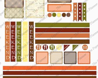 November Digital Planner Stickers