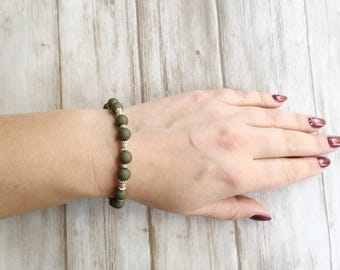 Bracelet green / green / silver / nice gift | Bracelet This is Green