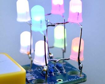 2x2x2 RGB LED Cube - DIY Kit