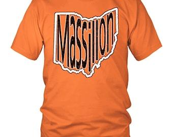 Massillon Ohio T-Shirt White and Black Print
