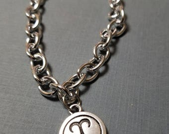 Aries Zodiac Sign Charm Bracelet