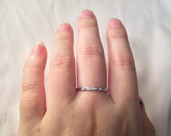 Thin Ring Silver Band Womens Gifts