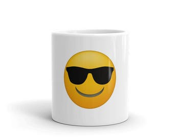 Emoji Sunglasses Mug - Funny Emoji Face Mug