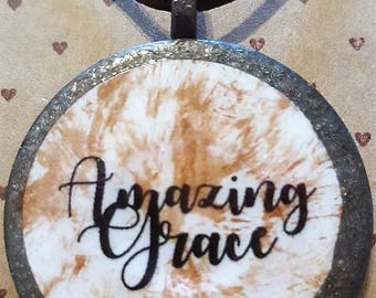 Amazing Grace- Handmade Christian Inspirational Necklace - FREE SHIPPING