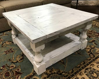 Square Wood Coffee Table-SPRING TX local pickup