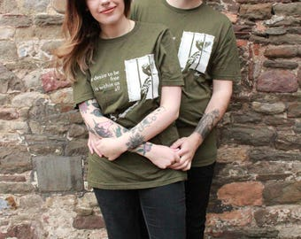 Animal Justice Project - Freedom Eco moss green Unisex shirt