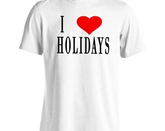 I Love HOLIDAYS Men's T-Shirt h39m