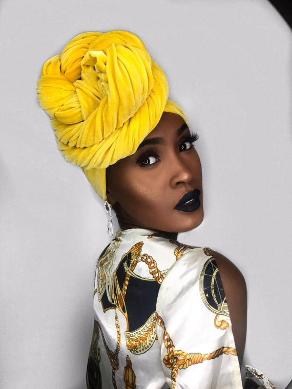 VELVET HEADWRAP Yellow Gold