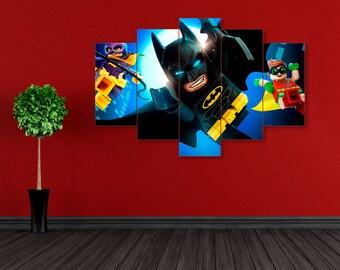 Lego Batman, Batman print, DC Comics, Superhero print, Batman canvas, Superhero canvas, Lego Batman print, DC Comics print, Batman wall art