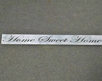 Home Sweet Home Engraved Wood Sign