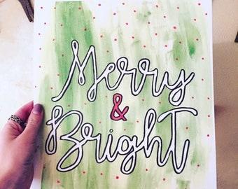 Merry & Bright Print