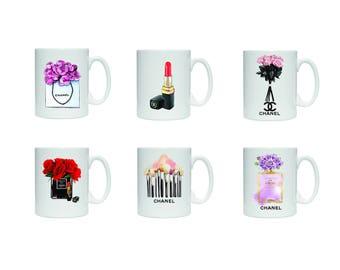 Glamour mug,  Parisian cup, coffee mugs ceramic