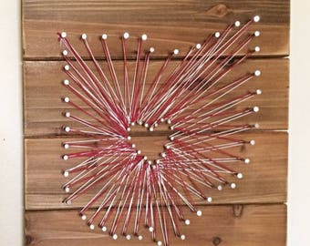Ohio string art- wood- wall decor