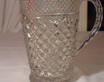 Anchor Hocking Wexford Glass Pitcher 1960s