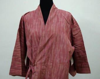 Japanese haori kimono pink kimono jacket /kimono cardigan/kimono robe/#010