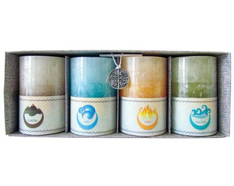 ELEMENTAL CANDLES - Earth, Air, Fire Water