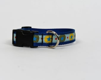 SALE!! Blue Stars Dog Collar - Medium