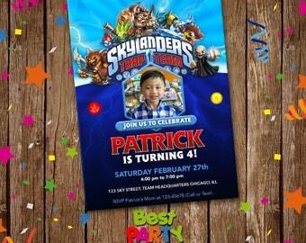 Skylanders Invitation, Skylanders Digital Invite, Skylanders Video Game Printable, Digital File, Birthday Party Invitation, best-0002