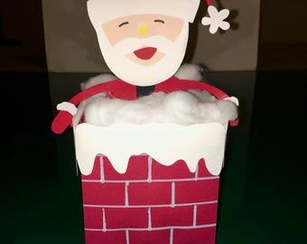 Santa Claus Chimney Money Gift